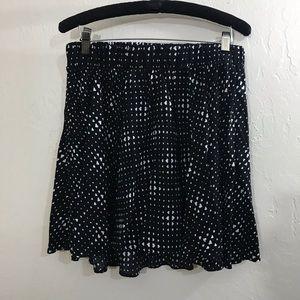 Torrid skirt black with white polkadot hearts